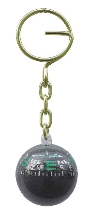 Keychain - Simple and functional compass - marine style - marine decoration
