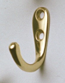 Single Hook - brass polish - marine accessories - marine decoration