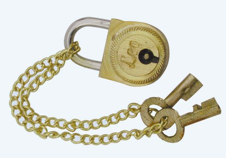 Small lock for box treasure - marine style - marine decoration
