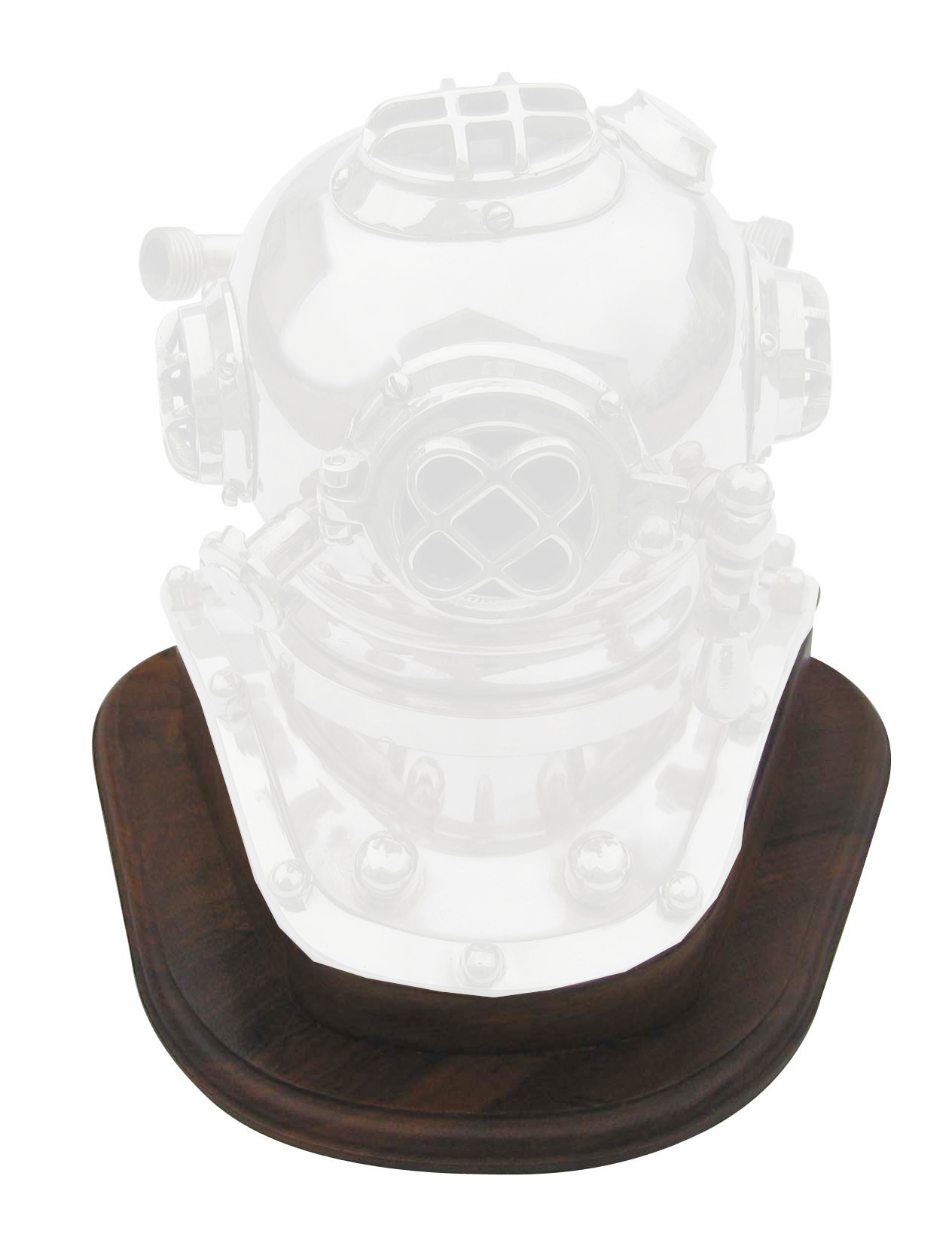 Wooden stand for helmet diver CA-1173 Reference - marine style - marine decoration
