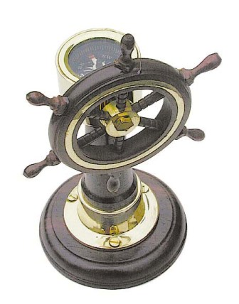 Navigation station - wooden base - functional compass - marine style - marine decoration