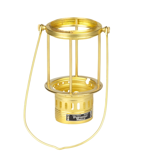 Polished brass frame for lamp oil PETROMAX HK150 - PETROMAX lamps