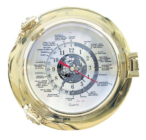 Time clock schedules brass - quartz movement - marine style - marine decoration