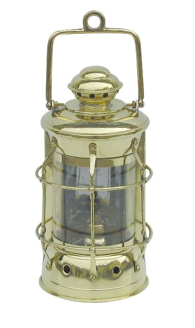 Brass oil lamp to Nelson - marine style - marine decoration