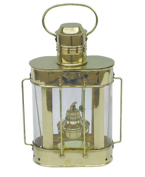 Ship lamp - 230V electrical brass - marine style - marine decoration