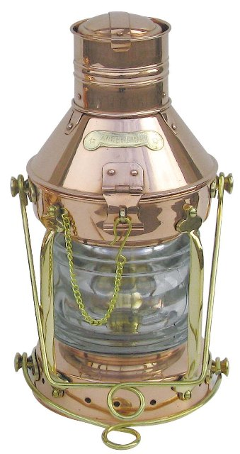 Marine lamp COPPER large model oil STORM - marine style - marine decoration