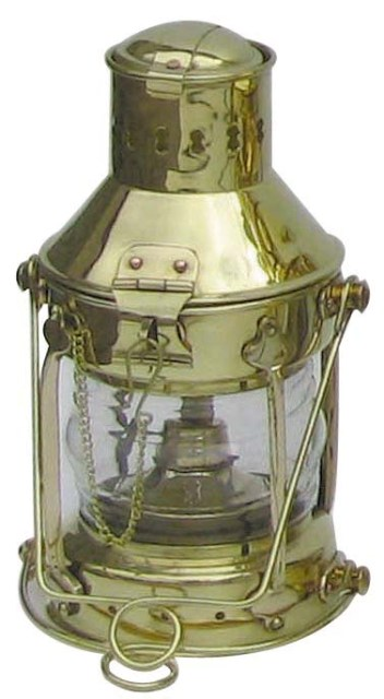 Anchor lamp - 230V electrical brass - marine style - marine decoration
