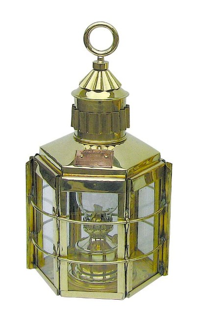 Clipper lamp - 230V electrical brass - marine style - marine decoration