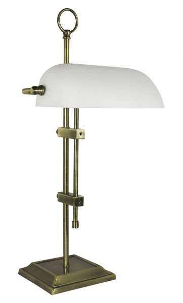 Adjustable opaline type Banker lamp and telescopic - marine style - marine decoration