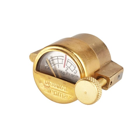 Polished brass gauge oil lamp PETROMAX - PETROMAX lamps