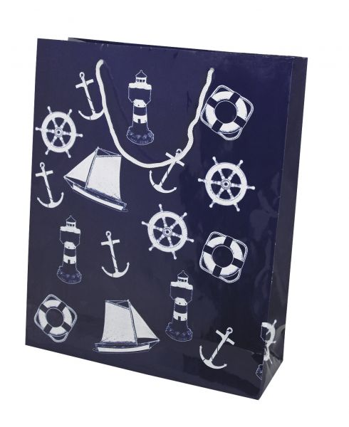 Gift bag with marine forms - marine style - marine decoration