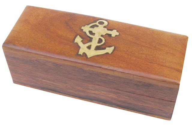 Exotic wooden box Sheesham - Rosewood - marine style - marine decoration