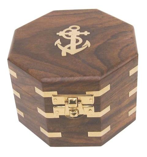 Boites marines coffrets marins bo te en bois exotique for Decoration marine bois