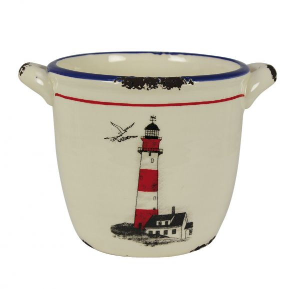 Polish stoneware with Lighthouse grounds - marine style - marine decoration
