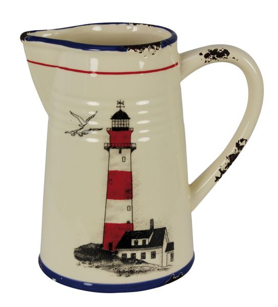 Broc with Lighthouse grounds - marine style - marine decoration