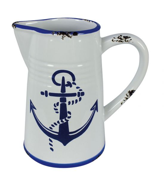 Broc with marine anchor motif - marine style - marine decoration