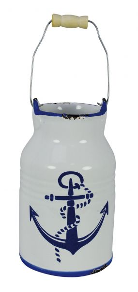 can - milk jug with marine anchor motif - marine style - marine decoration