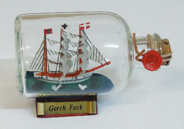 Ship in bottle - Gorch Fock - marine style - marine decoration