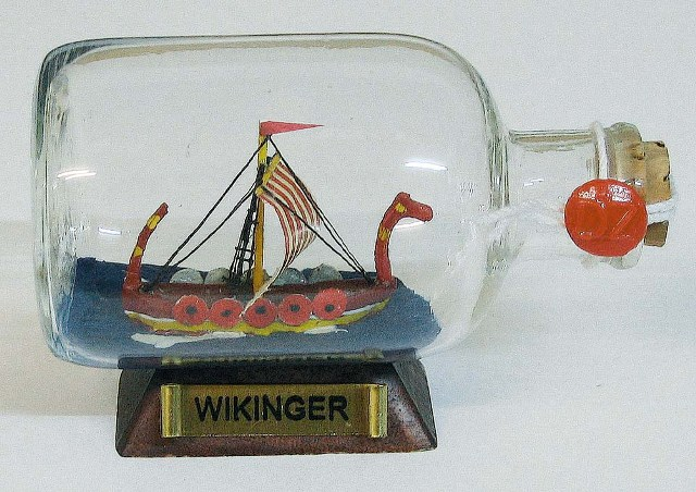 Ship in bottle - Wikinger - marine style - marine decoration