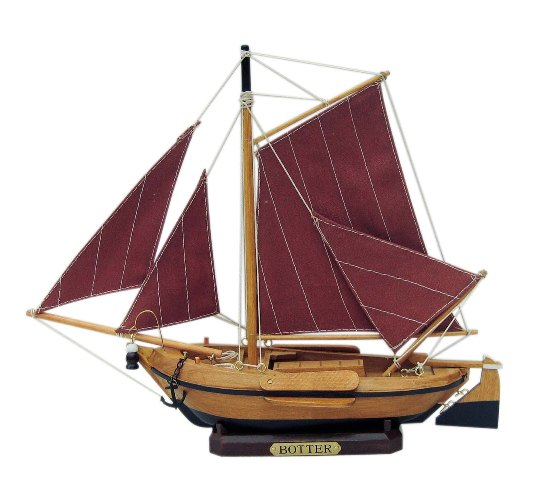 Sailing fishing boat - 'Kicking' wood - marine style - marine decoration