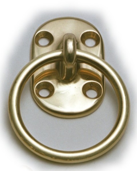 Ring in Platinum - polish brass - marine accessories - marine decoration