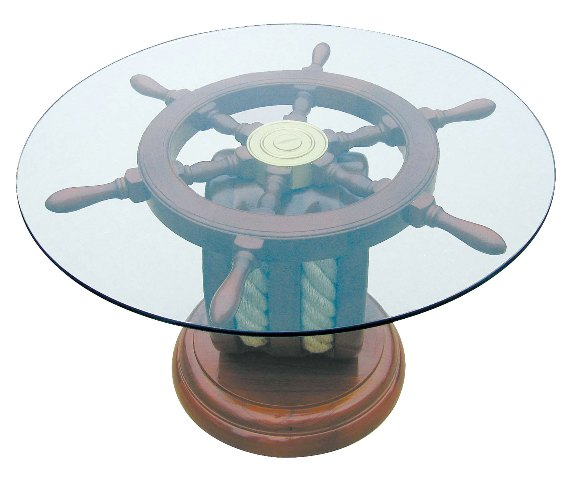 Table - Steering wheel - marine style - marine decoration