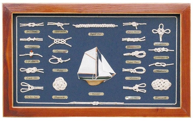 Table wood knots - GERMAN - marine style - marine decoration