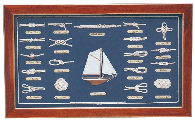 Table wood knots - ENGLISH - marine style - marine decoration