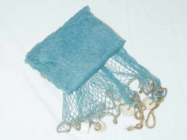 Fishing net with float - blue - marine style - marine decoration