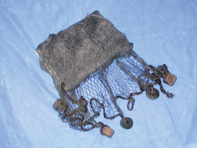 Fishing net with float - brown - marine style - marine decoration