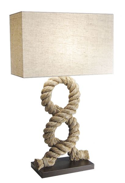 Rope lamp with shade - marine style - marine decoration