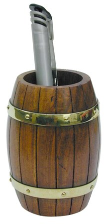 Pen holder - Wooden barrel-brass - marine style - marine decoration
