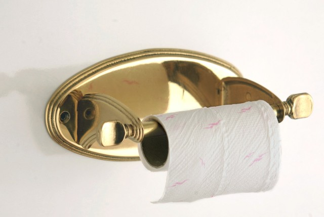 Toilet tissue holder - Polished Brass - marine accessories - marine decoration
