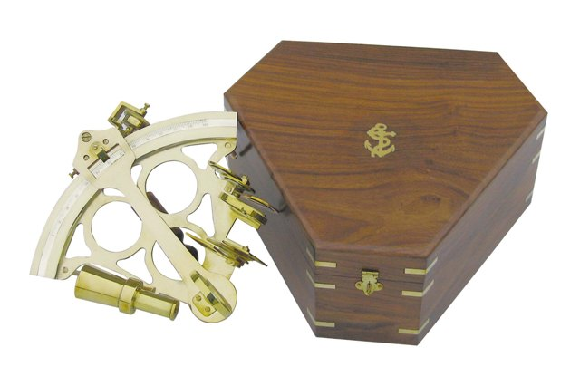 Sextant with micro brass setting - marine style - marine decoration