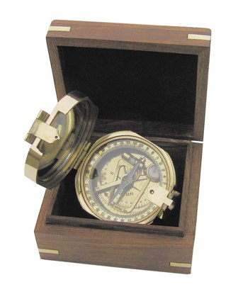 Brunton compass with box - marine style - marine decoration