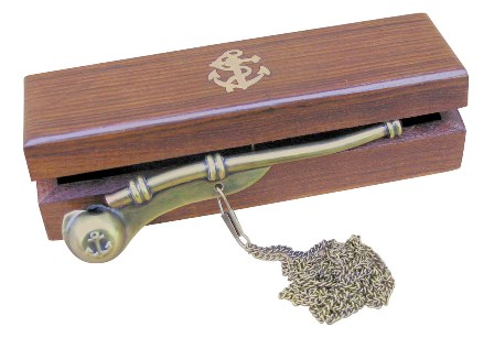 Whistle bosco with link and limps - marine style - marine decoration