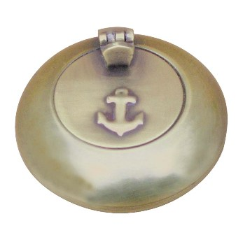 Antique brass ashtray - marine style - marine decoration