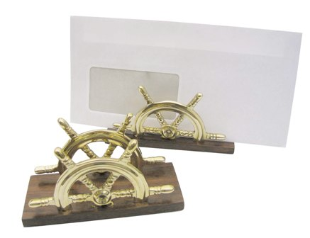 Holder mail or brass-wooden towel - marine style - marine decoration