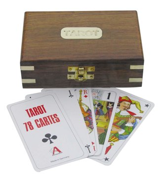 Tarot card game and cabinet - marine style - marine decoration