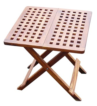 Folding wooden table - marine style - marine decoration