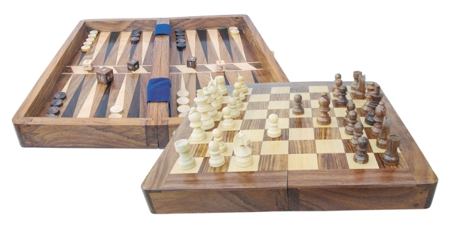 Chess and Backgammon game - marine style - marine decoration