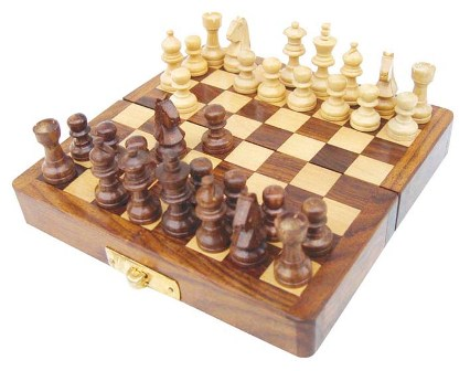 Game of Chess wood - Magnetic - marine style - marine decoration