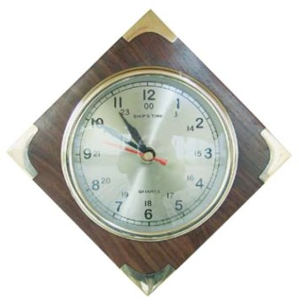 Clock in wood - quartz movement - marine style - marine decoration