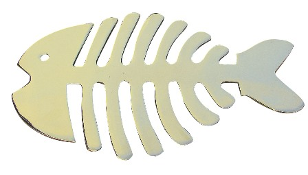 Trivet - shaped brass fishbone - marine style - marine decoration