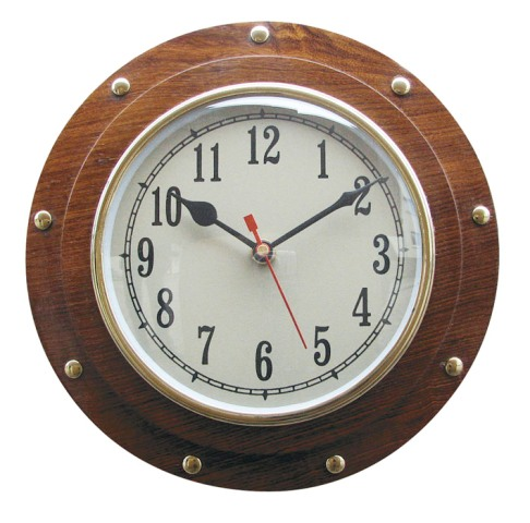 Clock in marine window - marine style - marine decoration