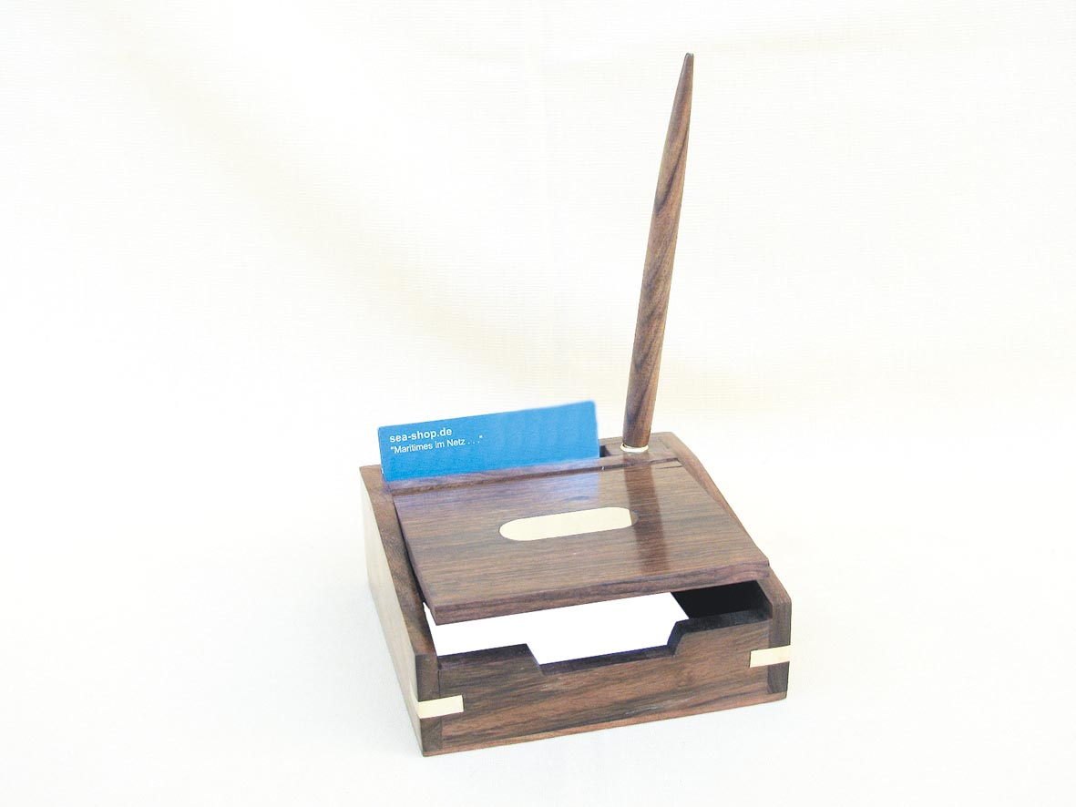 Memo box for cards and visiting cards - marine style - marine decoration