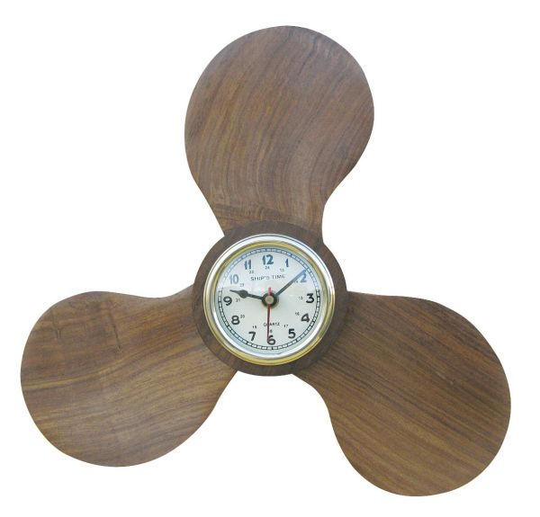 Propeller with Clock - marine style - marine decoration