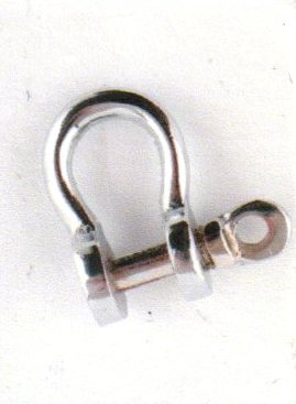 Shackle - chromed brass - marine accessories - marine decoration