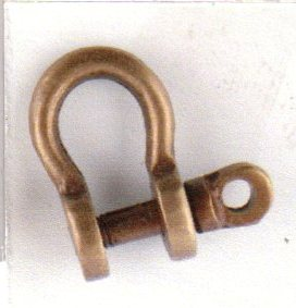 Shackle - antique brass - marine accessories - marine decoration