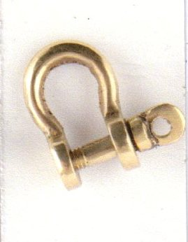 Shackle - polish brass - marine accessories - marine decoration